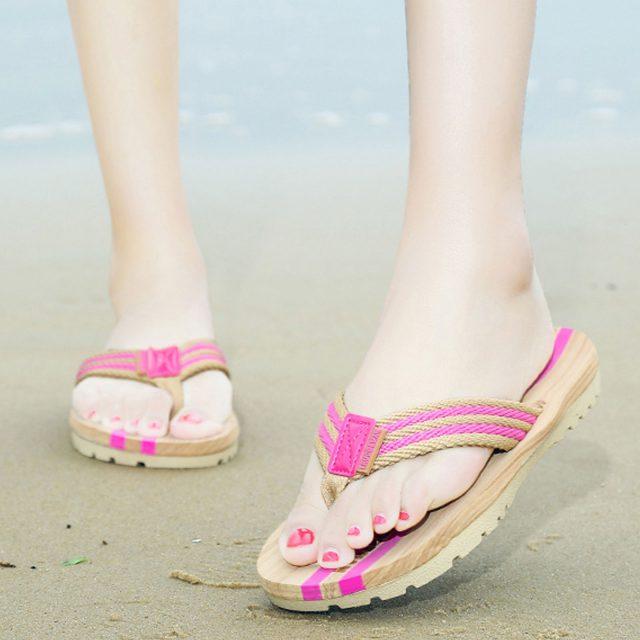 pink-striped-flip-flops