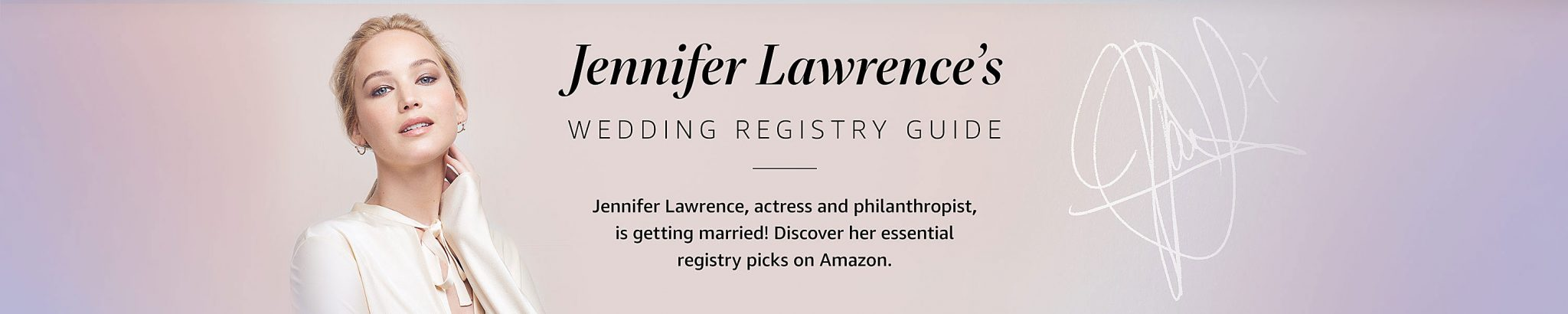 jennifer lawrence wedding registry ideas