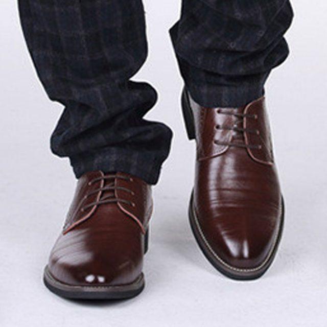 Dark Brown Pointed Toe Men Shoes