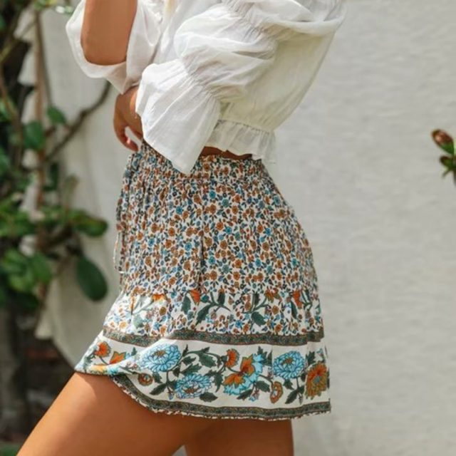 Floral Printed Bohemian Shorts
