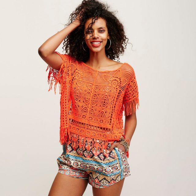 Crochet Boho Embroidery Top