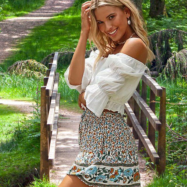 floral-print-boho-shorts